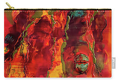 Broken Mask Encaustic Carry-all Pouch