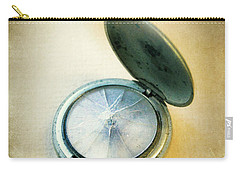 Broken Pocket Watch Carry-all Pouch by Jill Battaglia