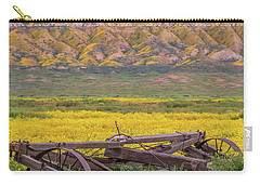 Broken Wagon In A Field Of Flowers Carry-all Pouch