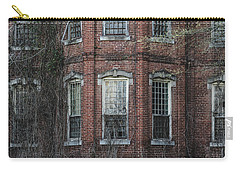 Carry-all Pouch featuring the photograph Broken Windows On Abandoned Building by Kim Hojnacki