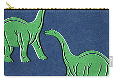 Brontosaurus Carry-all Pouch by Linda Woods