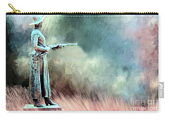 Carry-all Pouch featuring the photograph Statue Of The Bandit Queen Belle Starr By Jo Mora by Janette Boyd
