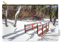 Brook Bridge Carry-all Pouch by Betsy Zimmerli