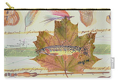 Brook Trout On Fly #2 Carry-all Pouch