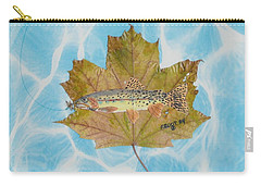 Brook Trout On Fly Carry-all Pouch