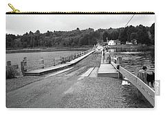 Carry-all Pouch featuring the photograph Brookfield, Vt - Floating Bridge 5 Bw by Frank Romeo