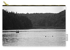 Carry-all Pouch featuring the photograph Brookfield, Vt - Swimming Hole 2006 Bw by Frank Romeo