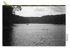 Carry-all Pouch featuring the photograph Brookfield, Vt - Swimming Hole Bw 2 by Frank Romeo