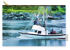 Brookings Boat Oil Painting Carry-all Pouch