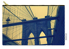 New York City's Famous Brooklyn Bridge Carry-all Pouch by Paulo Guimaraes