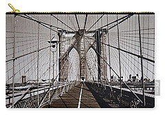 Brooklyn Bridge By Art Farrar Photographs, Ny 1930 Carry-all Pouch