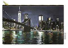 Brooklyn Bridge, East River At Night Carry-all Pouch