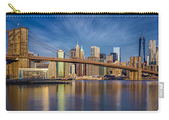 Carry-all Pouch featuring the photograph Brooklyn Bridge From Dumbo by Susan Candelario