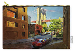 Brooklyn Bridge From Everit Street Carry-all Pouch