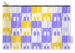 Brooklyn Bridge In Purple And Gold Carry-all Pouch by Marianne Campolongo