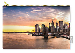 Brooklyn Bridge Panorama Carry-all Pouch by Mihai Andritoiu