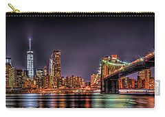 Carry-all Pouch featuring the photograph Brooklyn Bridge Park Nights by Theodore Jones