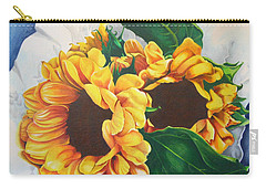 Carry-all Pouch featuring the painting Brooklyn Sun by Angela Armano