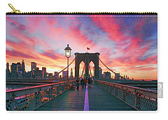 Brooklyn Sunset Carry-all Pouch by Rick Berk
