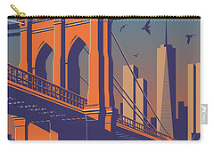 Brooklyn Vintage Travel Poster Carry-all Pouch