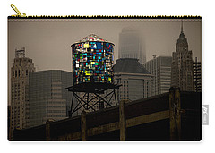 Carry-all Pouch featuring the photograph Brooklyn Water Tower by Chris Lord
