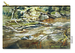 Carry-all Pouch featuring the painting Brookside by Kris Parins