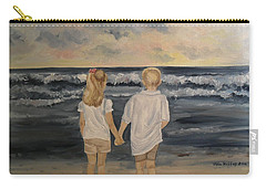 Carry-all Pouch featuring the painting Brother And Sister by Julie Brugh Riffey