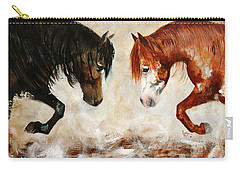 Brothers Hawk And Bo Carry-all Pouch by Barbie Batson