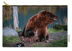 Brown Bear And Magpie Carry-all Pouch
