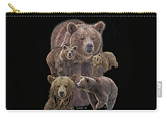Brown Bears 8 Carry-all Pouch
