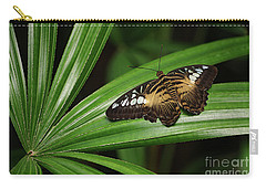 Brown Clipper Butterfly -parthenos Sylvia- On Frond Carry-all Pouch