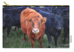Carry-all Pouch featuring the photograph Brown Cow by Craig J Satterlee