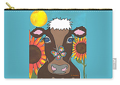 Brown Cow Carry-all Pouch