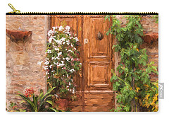 Brown Door Of Tuscany Carry-all Pouch