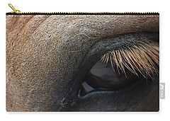Brown Horse Eye Carry-all Pouch