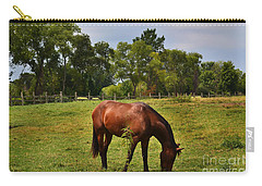 Brown Horse In Holland Carry-all Pouch