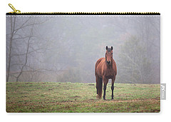 Brown Horse In Virginia Fog Carry-all Pouch