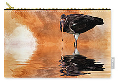 Brown Ibis Carry-all Pouch by Cyndy Doty