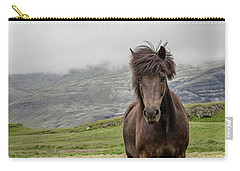 Carry-all Pouch featuring the photograph Brown Icelandic Horse by Edward Fielding