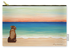 Brown Lab Sunrise Carry-all Pouch