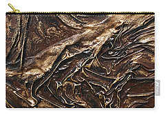 Brown Lace Carry-all Pouch