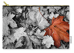 Brown Maple Leaf Carry-all Pouch