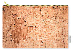 Brown Paint Texture Carry-all Pouch by John Williams