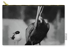 Brown Pelican And Laughing Gull Carry-all Pouch by Scott Cameron