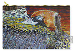 Brown Pelican Carry-all Pouch by David Joyner
