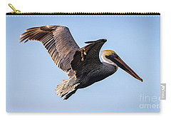 Brown Pelican In Flight - Pelecanus Occidentalis  Carry-all Pouch