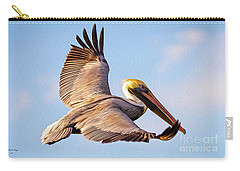 Brown Pelican In Flight - Two Carry-all Pouch