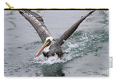 Brown Pelican Landing On Water . 7d8372 Carry-all Pouch