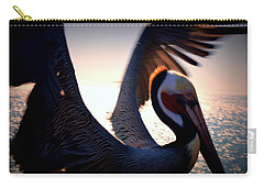 Brown Pelican Carry-all Pouch by Nature Macabre Photography