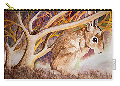 Brown Rabbit Carry-all Pouch